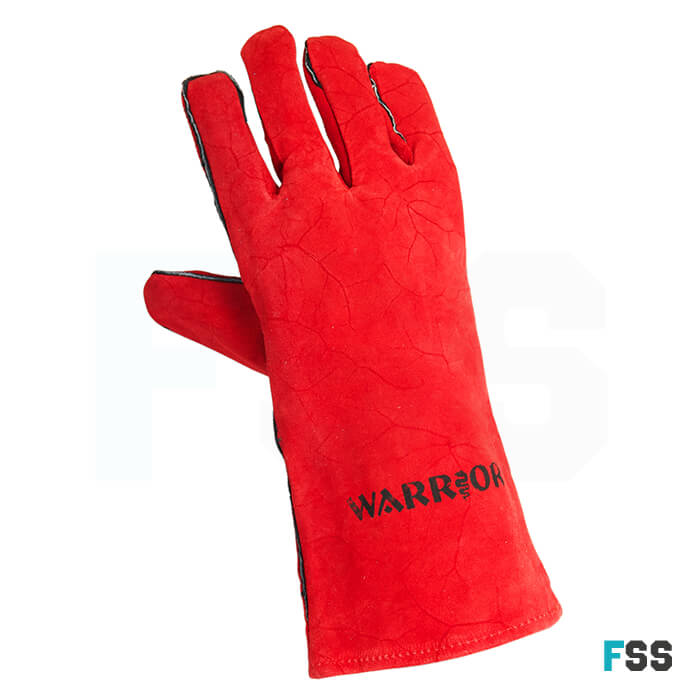 Warrior Supa Red Leather Welding Gauntlet
