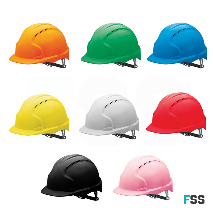 482434f8a85 JSP EVO2 Mid Peak Slip Ratchet Vented Safety Helmet