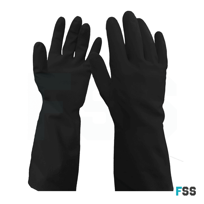 WarriCHEM Black Latex Glove 0111wbl