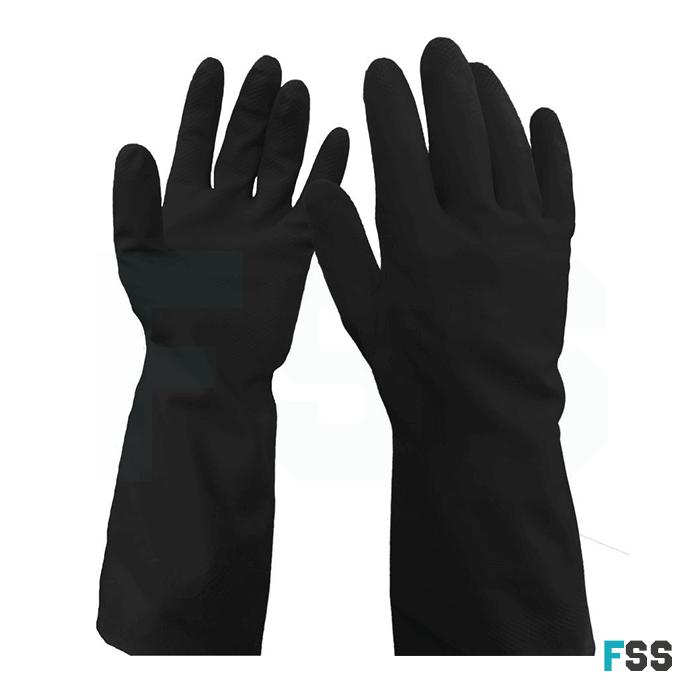 WarriCHEM Black Latex Glove - Chemical Protect