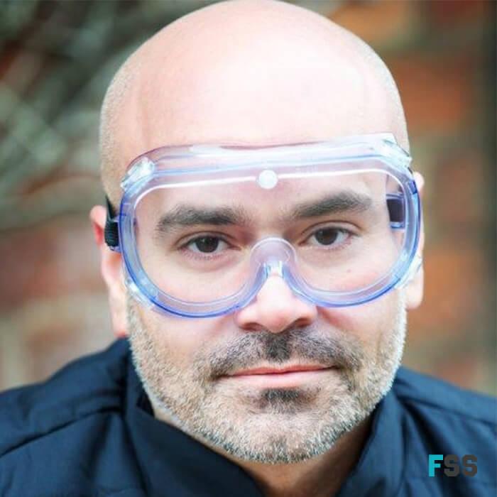 Warrior Standard Safety Goggles 0115g wearing