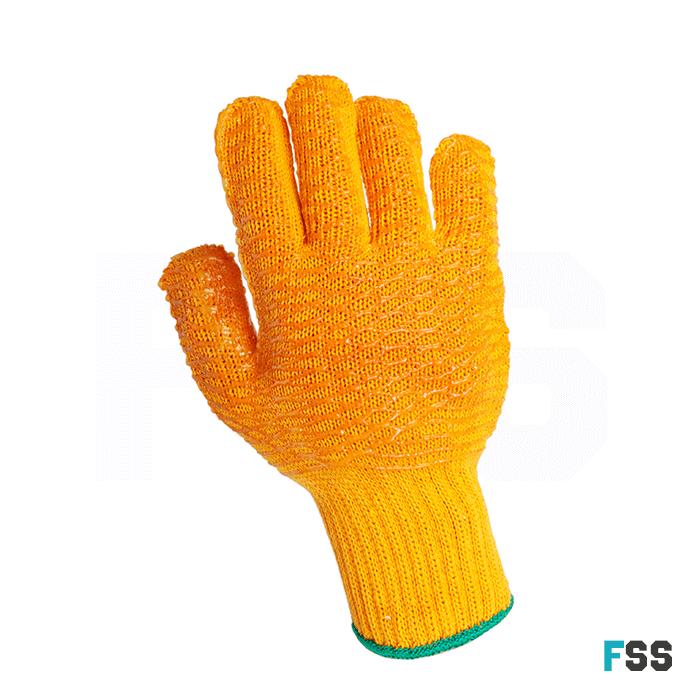 Yellow Criss Cross glove
