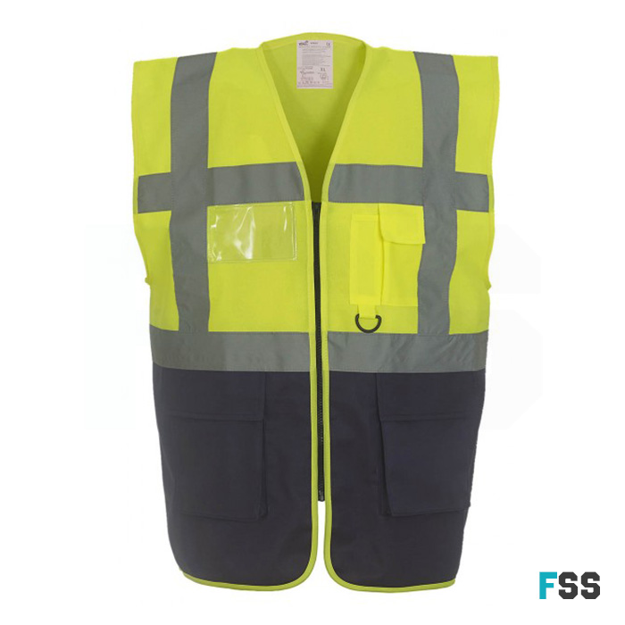 Yoko Executive hi-vis waistcoat (yellow / navy)