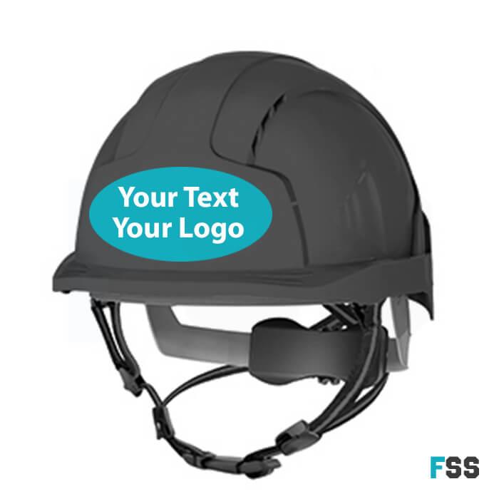 Hard hat sticker (company logo)