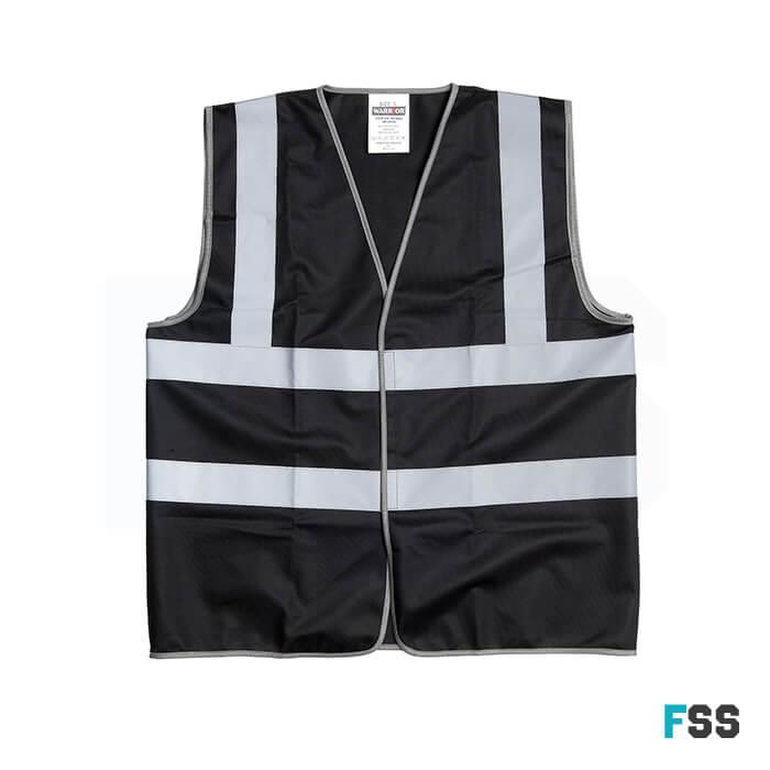 Warrior Basic Waistcoat Black - 0118WCBBK