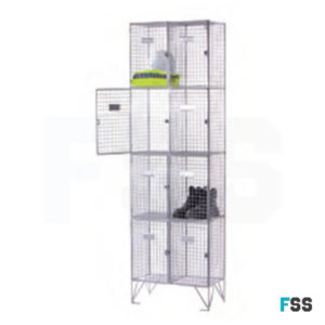 Express wire mesh locker