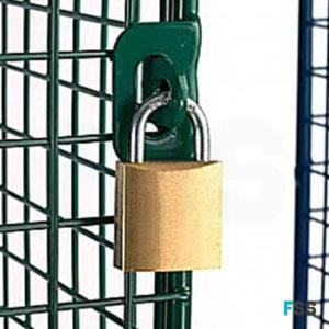 Mesh locker padlock