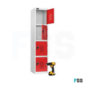 Tool charging locker