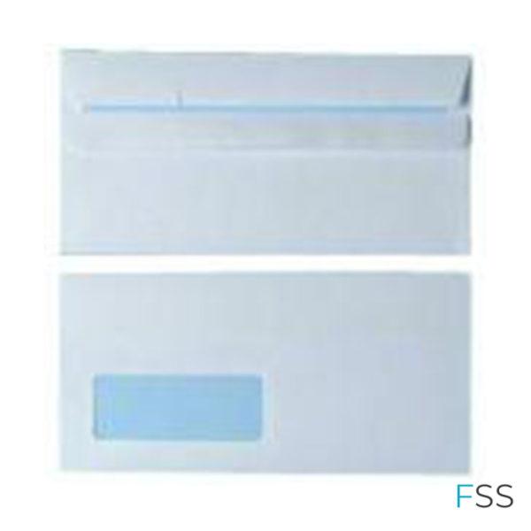 Envelope-DL-Window-90gsm-White-Self-Seal-Pack-of-1000