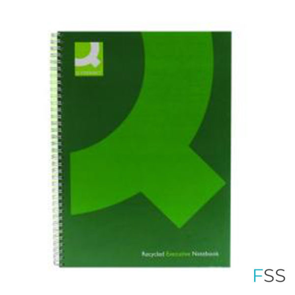 Q-Connect-Recycled-Wirebound-Notebook-A4-Green-Pack-of-3