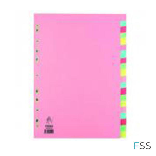 A4-Manilla-Divider-20-Part-Pink-With-Multi-Colour-Tabs