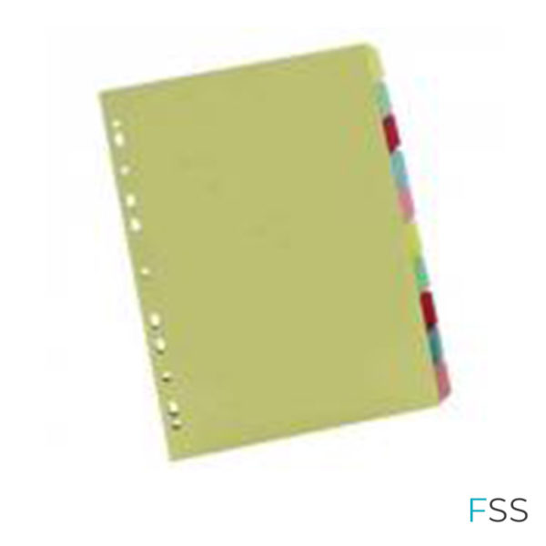 Multicoloured-A4-10-Part-Divider