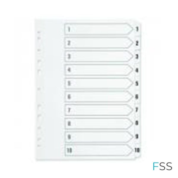 Q-Connect-1-10-Index-Multi-punched-Polypropylene-White-A4