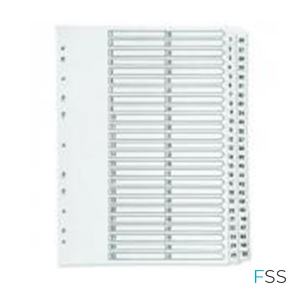 Q-Connect-1-50-Index-Multi-Punched-Reinforced-Board-Clear-Tab-A4-White