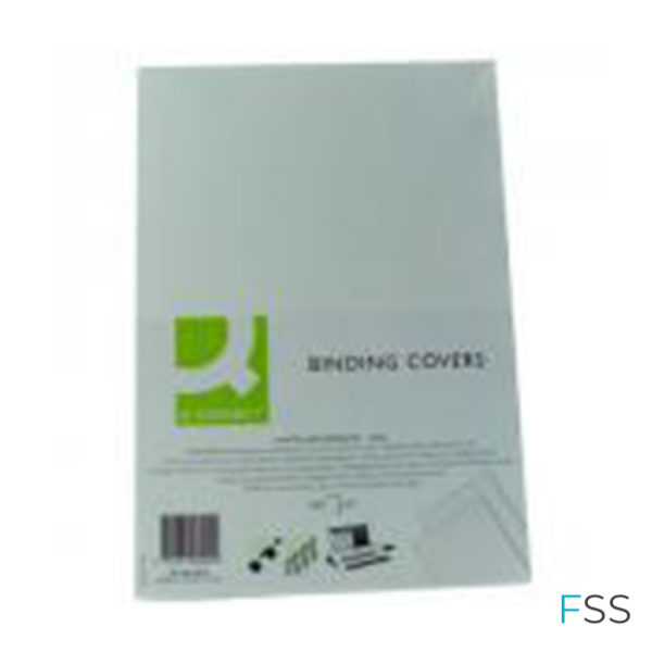 Q-Connect-A4-White-PVC-Comb-Binder-Cover-250gsm-100pk