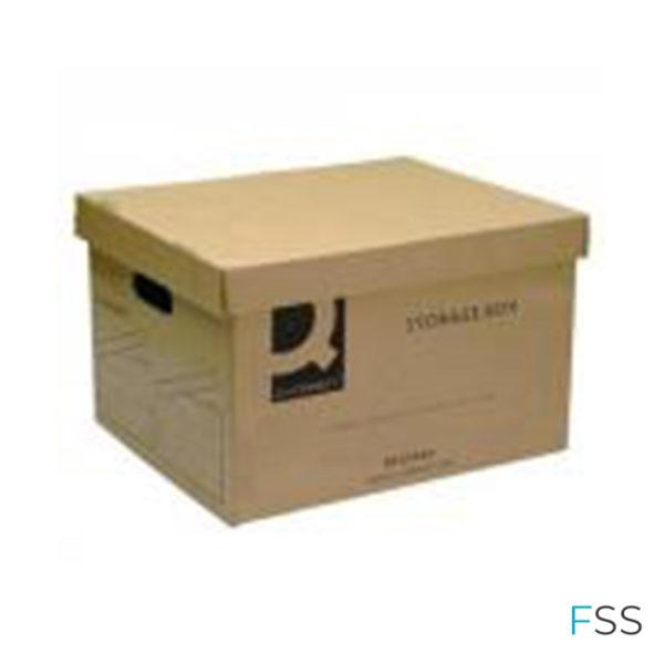 Q-Connect-Brown-Storage-Box-335x400x250mm
