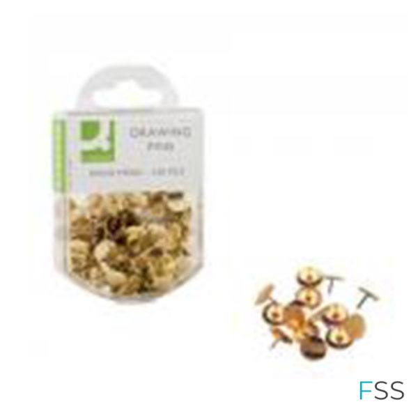 Q-Connect-Drawing-Pins-Brass-1200pk