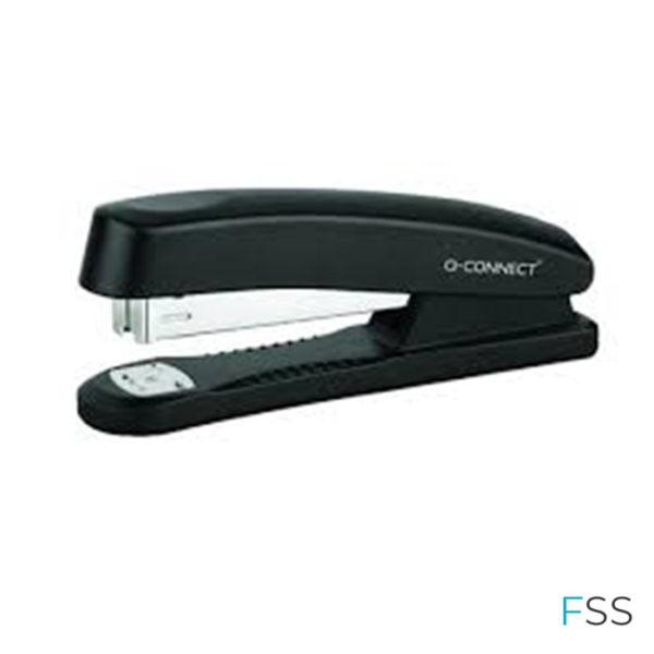 Q-Connect-Full-Strip-Plastic-Stapler-Black